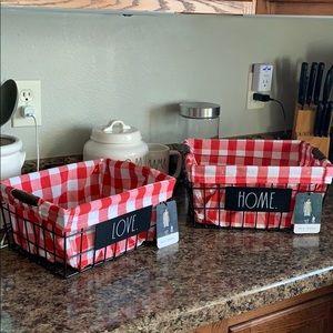 Rae Dun Red HOME & LOVE Baskets